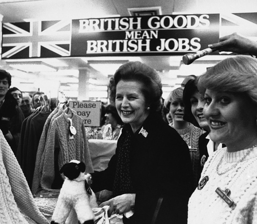 "In 1988 she declared that ""We're not in a Cold War now"", but rather in a ""new relationship much wider than the Cold War ever was"". Photo: Prime Minister Margaret Thatcher at Marks and Spencer store in London"