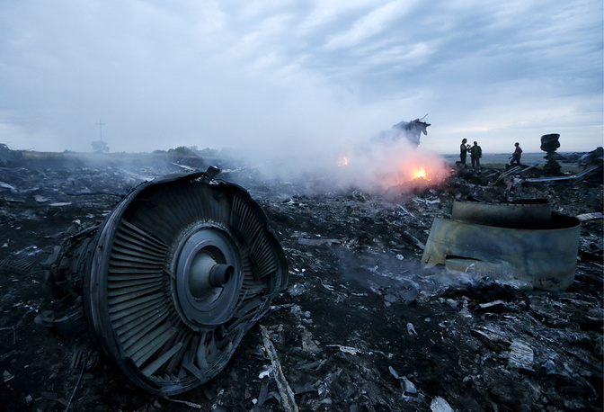 On 17 July 2014, a Malaysia Airlines Boeing 777 passenger airliner on flight MH17 from Amsterdam to Kuala Lumpur crashed in the Donetsk region in eastern Ukraine, killing all 298 people on board. Photo: The site of the MH17 crash