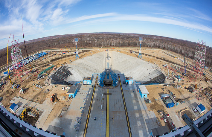 The launch pad at Vostochny Cosmodrome