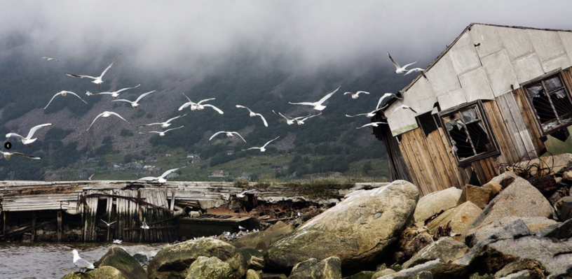 Old pier, by Sergei Smirnov. Photo: Nagaev Bay, Magadan