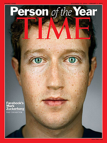 """In 2010 Facebook co-founder Mark Zuckerberg was named Person of the Year. Zuckerberg was honoured """"for creating a new system of exchanging information; and for changing how we all live our lives"""""""