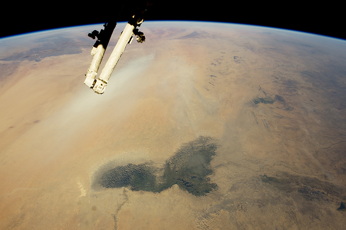 Lake Chad and Saharan dust plume