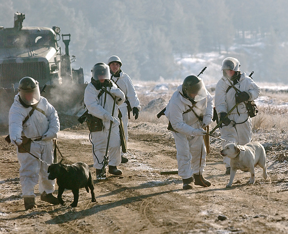 Siberian military district's engineer troops, 2008