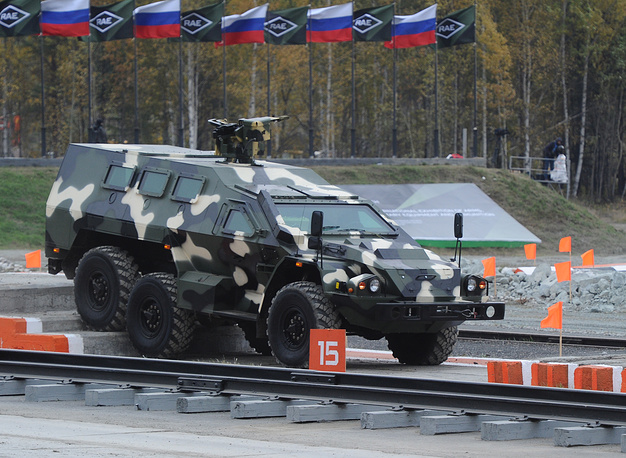 Kamaz 43269 Vystrel (BPM 97) armoured vehicle on display at RAE Russia Arms Expo 2013