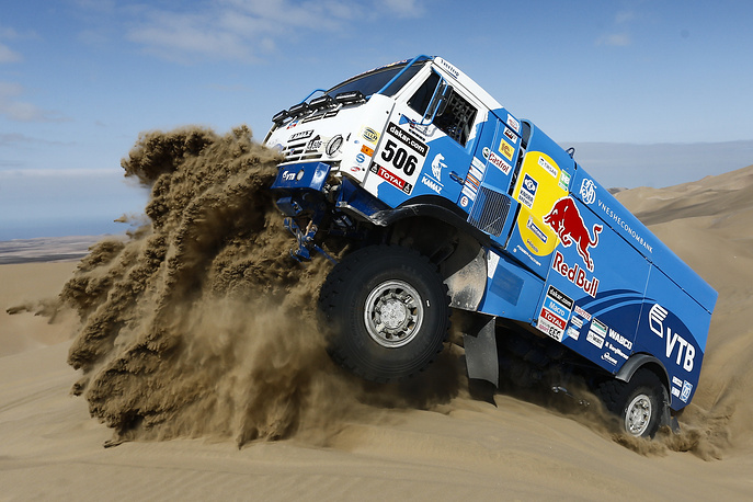 Kamaz truck seen during the tenth stage of the Dakar Rally between the cities of Iquique and Antofagasta, Chile