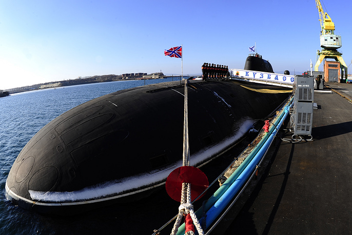 The modernized Akula-class Kuzbass attack submarine K-419, Project 971