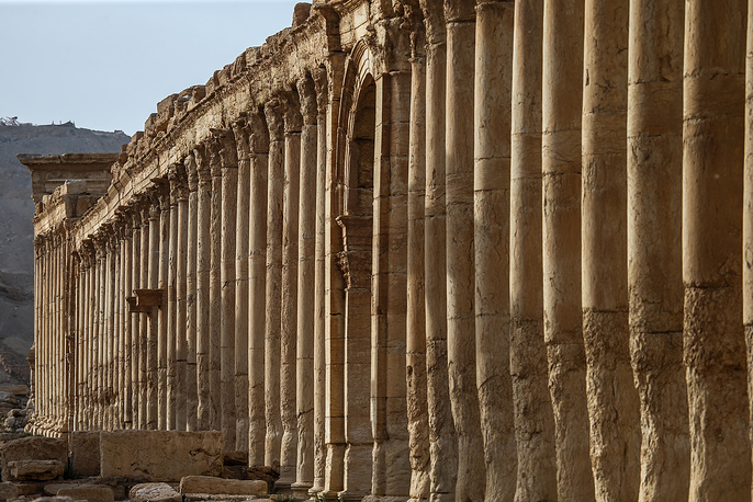 The Great Colonnade in the historic part of the city