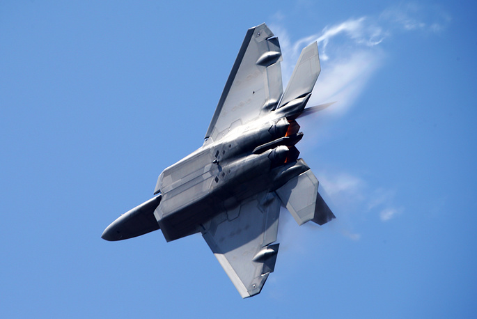 US Lockheed Martin F-22 Raptor fighter plane
