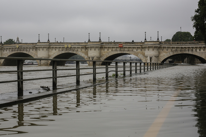 The Seine River has overflowed embankments in Paris