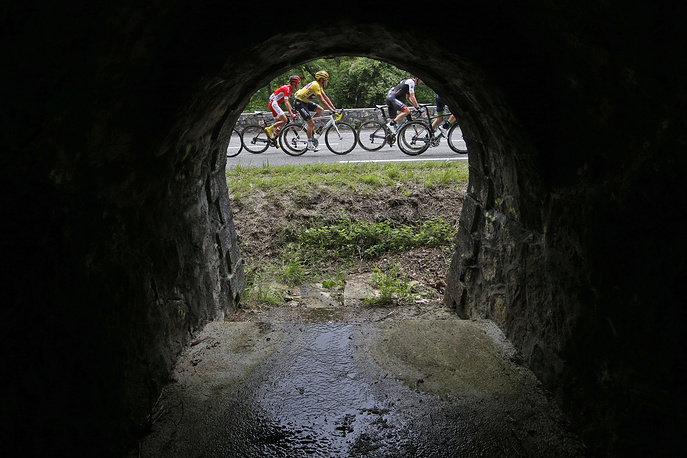Seventh stage of the Tour de France cycling race with start in L'Isle-Jourdain and finish in Lac de Payolle, France, July 8, 2016