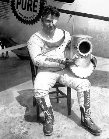 In 1933 Wiley Post became the first pilot to fly solo around the world, as he was using the auto-pilot and compass in place of his navigator