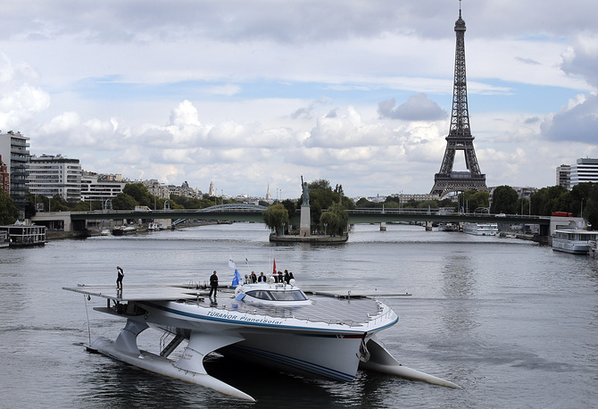 In 2012, PlanetSolar became the first ever solar electric vehicle to circumnavigate the globe