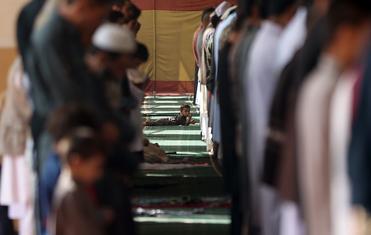 Eid al-Adha prayers in Eid Gah mosque in Kabul, Afghanistan