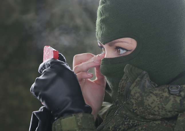 Russian contest for servicewomen called 'Makeup with Camouflage', 2016. The contest of beauty and professional skills among female soldiers was held on the territory of the Strategic Missile Forces training center in the town of Pereslavl
