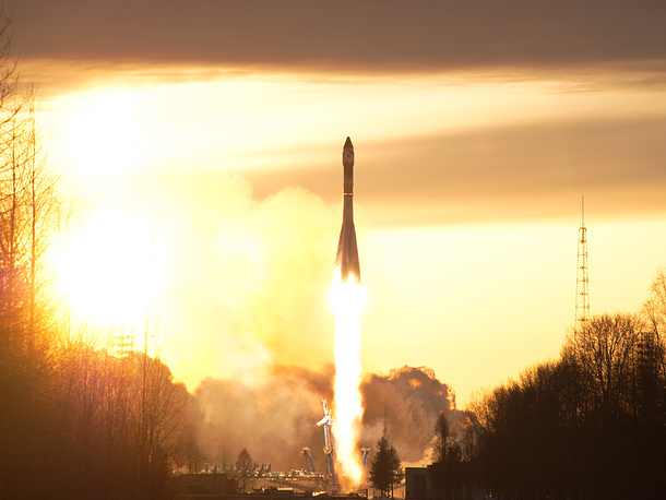 Russia's Space Forces perform a wide range of missions including spacecraft launches and placing military satellites into orbit. Photo: Soyuz U rocket carrying the military satellite blasts off from the launch pad at Plesetsk Cosmodrome, 2009