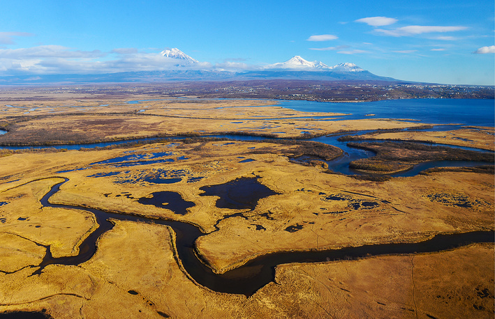 A view of the Avacha river in Kamchatka, Russia, October 15