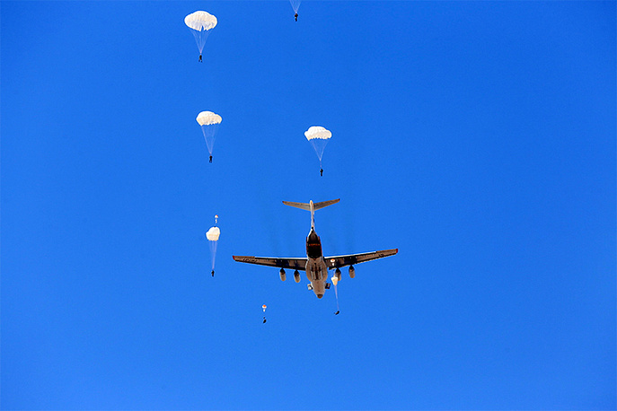 According to Russia's Defense Ministry, the exercise involved 15 helicopters and planes