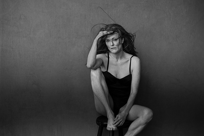 US actress Julianne Moore posing for the new Pirelli Calendar 2017
