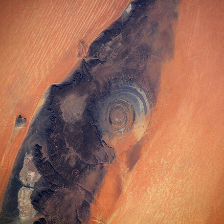 "The Richat Structure, also known as ""the Eye of the Sahara"""