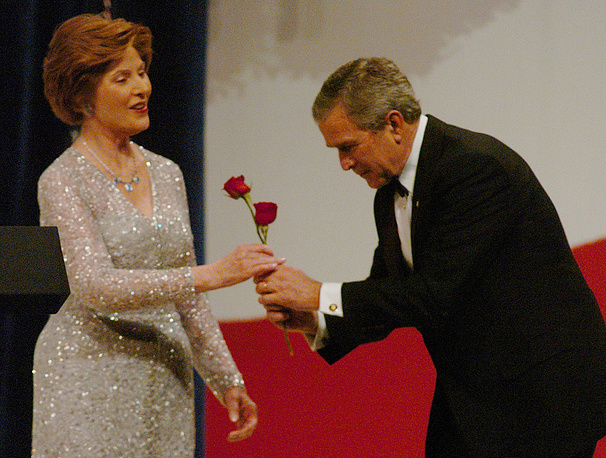Laura Bush and George W. Bush at the Patriot Ball at the Washington Convention Center, 2005