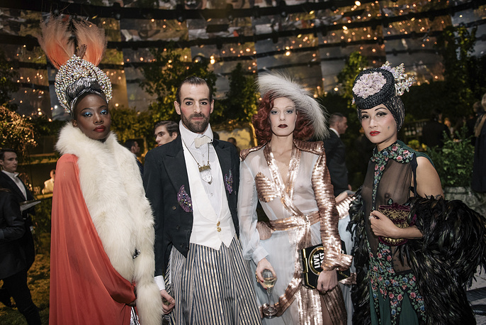 "Guests at the ""Grand Bal Christian Dior"" in Paris"