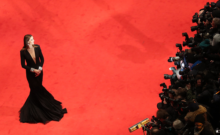 French actress Clotilde Courau at the opening ceremony of the 67th annual Berlin Film Festival and the premiere of 'Django', in Berlin, Germany, February 9