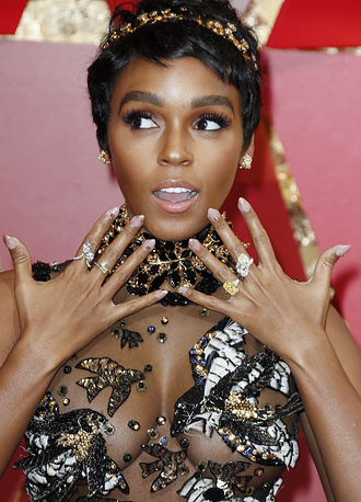 Janelle Monae at the 89th annual Academy Awards ceremony