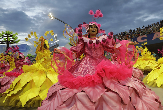 Competitors work for months to ready for Brazil's world famous Carnival parades of samba dancing, costumes and magnificent floats