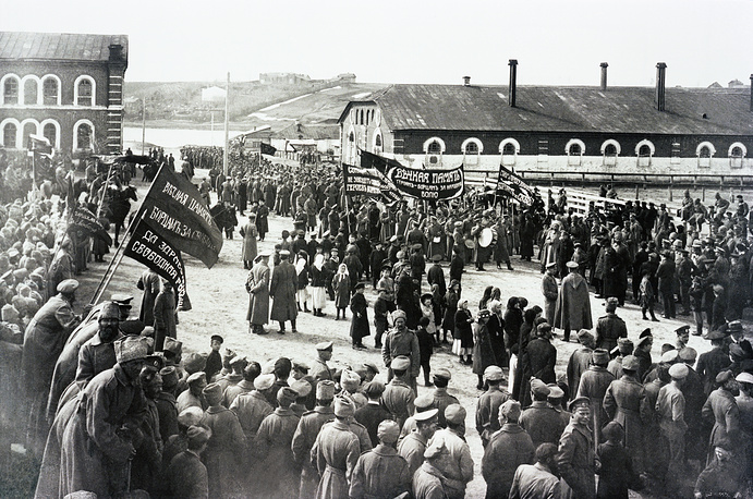 Revolutionary events in Torzhok, a town in Tver region, March 1917