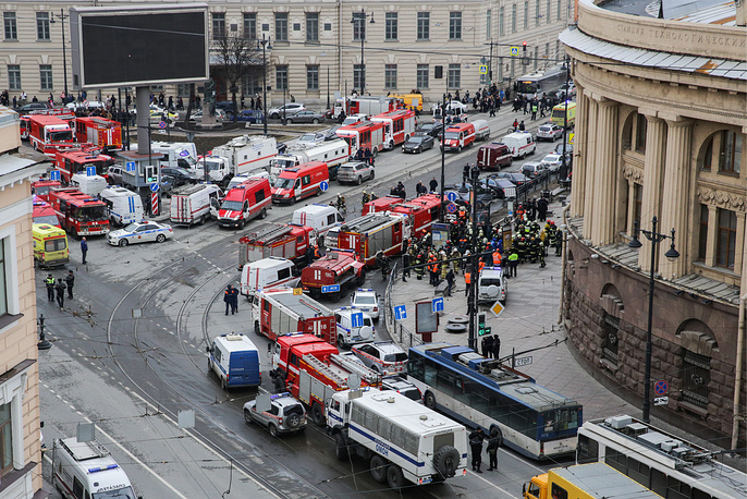An explosion rocked the subway system of Russia's second largest city, St. Petersburg