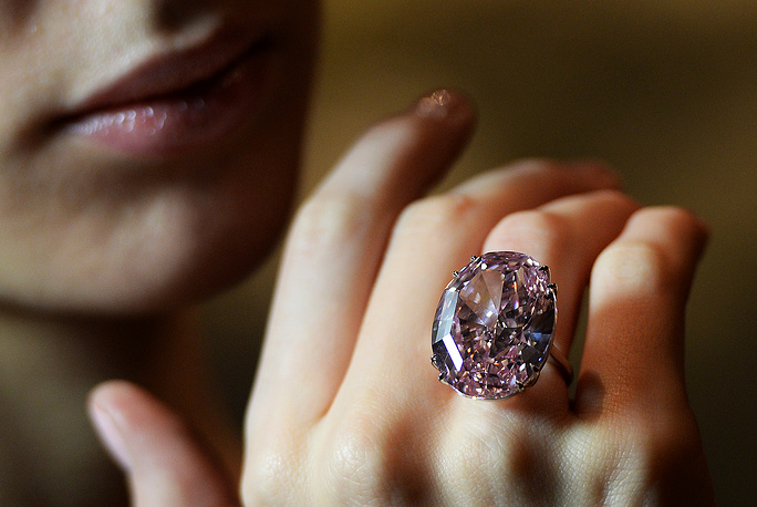 "On November 13, 2013, Sotheby's sold the 59.60-carat ""Pink Star"" for $83.2 mln to New York-based diamond cutter Isaac Wolf who eventually defaulted on the deal. The Pink Star was mined by De Beers in 1999 in South Africa, and weighed 132.5 carat in the rough"