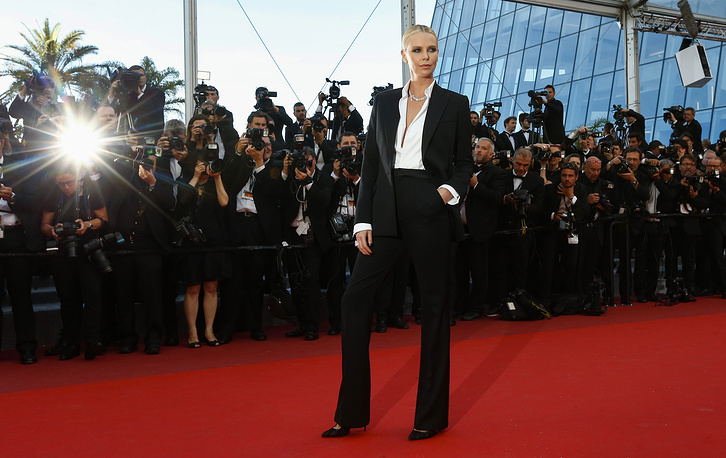 Charlize Theron at the 69th annual Cannes Film Festival, in Cannes, France, 2016