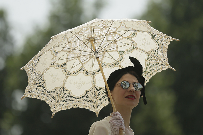 A racegoer seen on the second day of the Royal Ascot horse race
