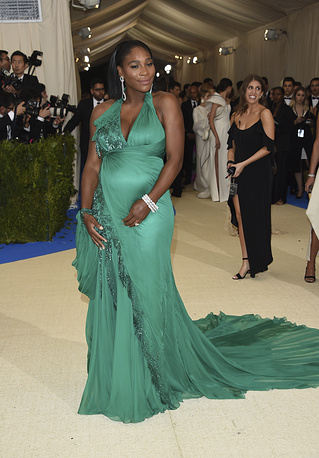 Tennis player Serena Williams was ranked third