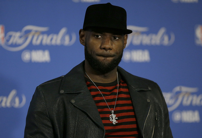 Basketball player and Cleveland Cavaliers forward LeBron James