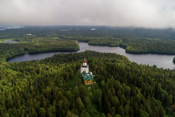 Church of the Ascension on the Sekirnaya Hill, part of the territory of the Holy Ascension Skete