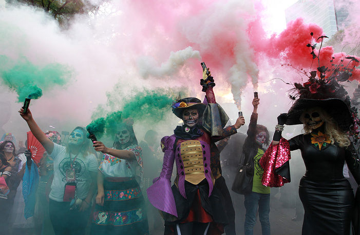 The Day of the Dead festivities usually celebrated in Mexico between October 31st and November 2nd