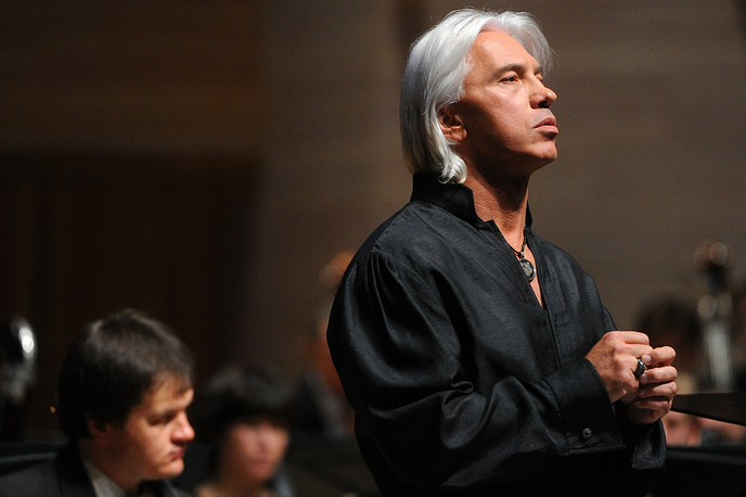 Dmitri Hvorostovsky performs at the opening of the 10th season at the Moscow International House of Music, in Svetlanov Hall