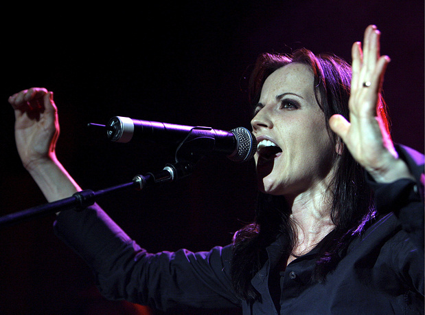 Dolores O'Riordan performs on stage during a concert on the occasion of her solo tour in Zurich, Switzerland, 2007