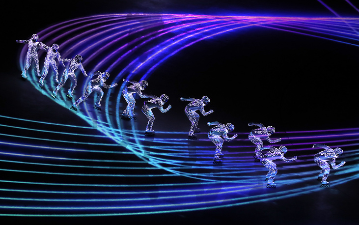 Artists perform during the Closing Ceremony of the PyeongChang 2018 Olympic Games