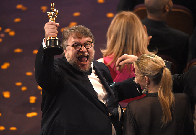 """Guillermo del Toro, winner of the award for best director for """"The Shape of Water"""""""
