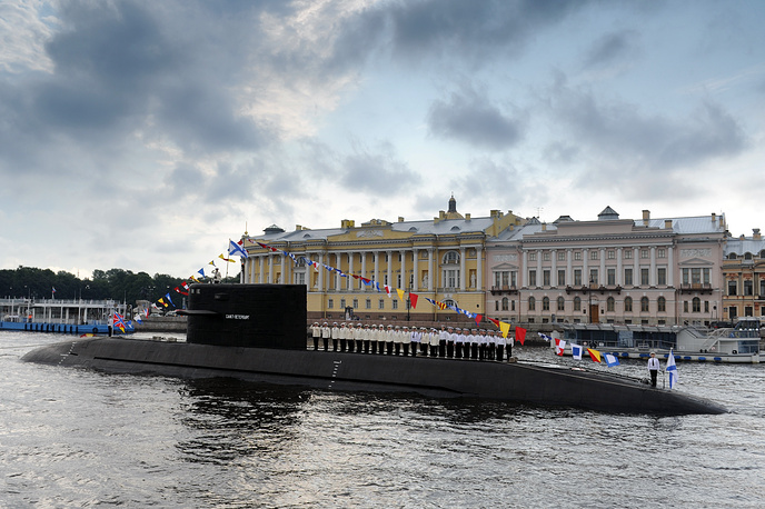 Project 677 (Lada) is the new advanced class of diesel-electric attack submarines. Photo: St. Petersburg diesel-electric submarine
