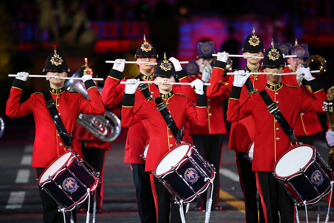 Members of Britain's Brentwood Imperial Youth Band