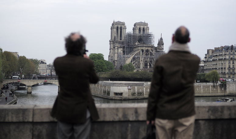 A catastrophic fire engulfed Paris' iconic Notre Dame Cathedral on April 15, threatening one of the greatest architectural treasures of the Western world as horrorstruck tourists and Parisians looked on from the streets below