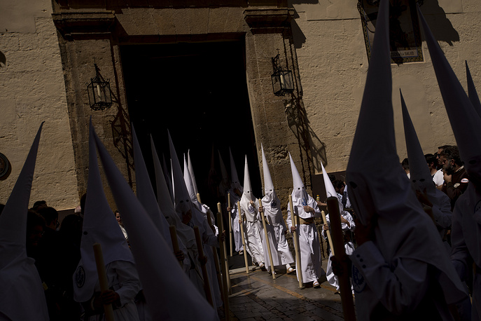 The religious processions hit the streets in many Spanish cities and villages marking the catholic Holy Week