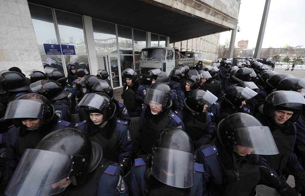 Law enforcement officers in east Ukraine's Donetsk (archive) ITAR-TASS/Dmitry Rogulin