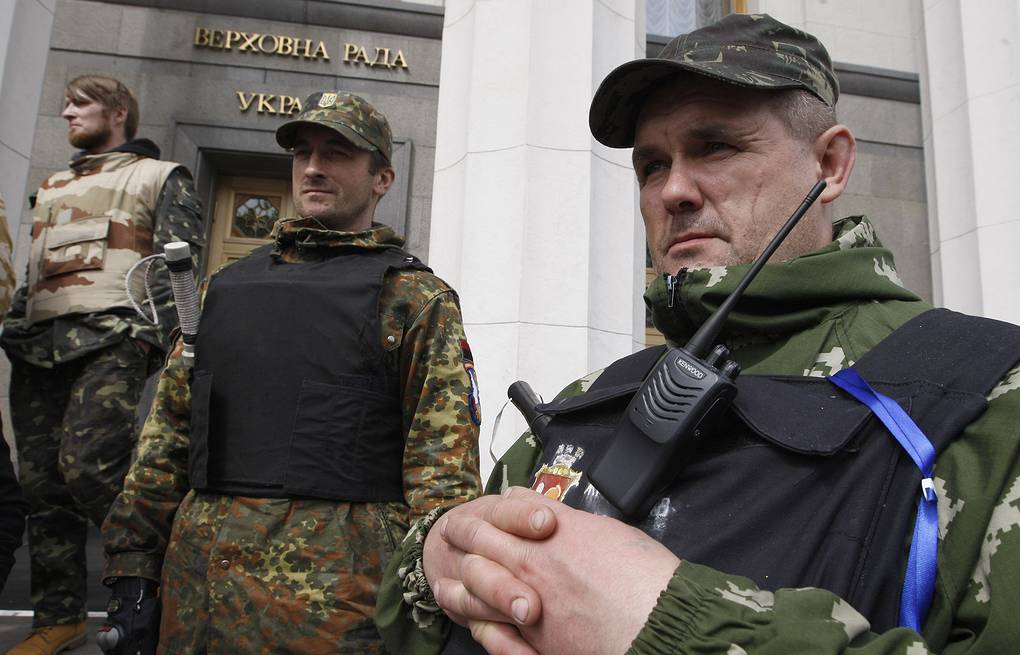Ukraine's Verkhovnaya Rada (parliament) guarded by self-defense activists ITAR-TASS/Maxim Nikitin
