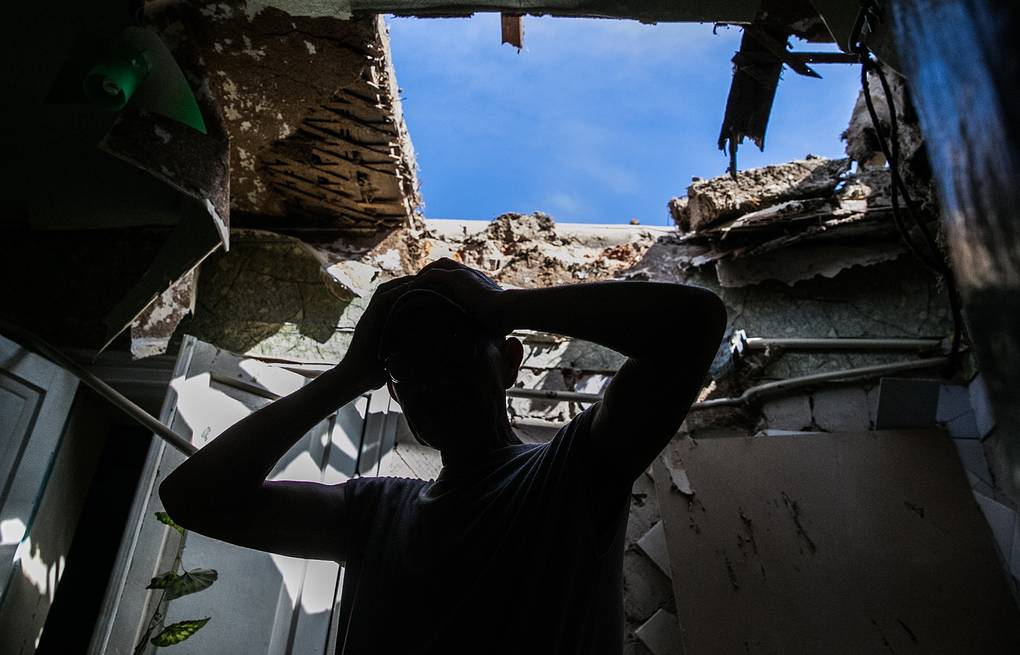 A house destroyed by shelling in Sloviansk (archive) ITAR-TASS/Mikhail Pochuyev