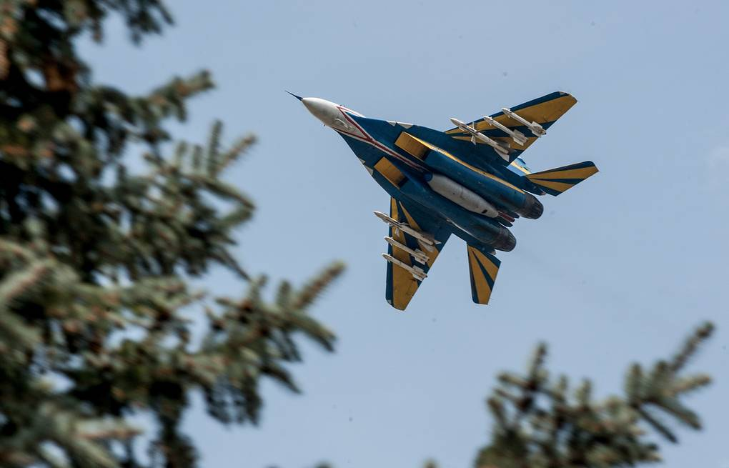 A Ukrainian fighter jet seen in eastern Ukraine, Apr. 2014 ITAR-TASS/EPA/KONSTANTIN IVANOV