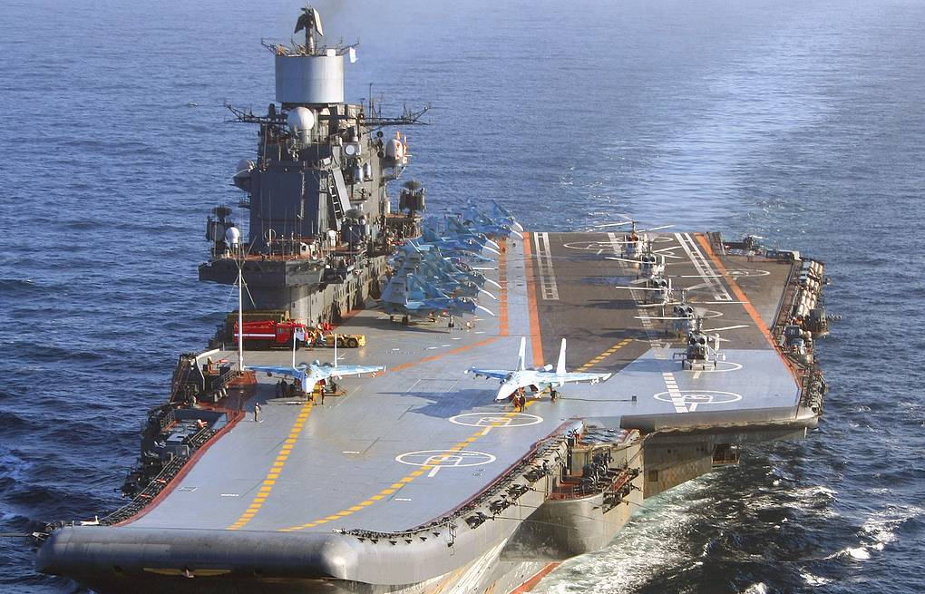Russia's only aircraft carrier Admiral Kuznetsov ITAR-TASS/Lev Fedoseyev